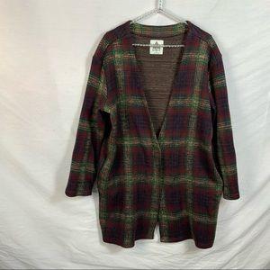 UNIF-Nevermind- Plaid check tunic Cardigan M